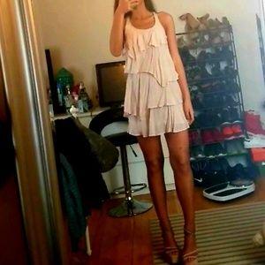Anthropologie Nude Racerback Ruffle Dress